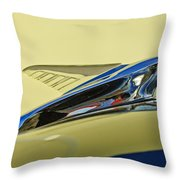 1951 Ford Hood Ornament 2 Throw Pillow