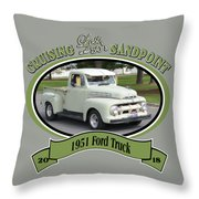 1951 Ford Truck Shields Throw Pillow