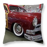 1951 Ford Woody Wagon Throw Pillow