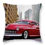 1951 Mercury 'candy Custom' Sled L Throw Pillow