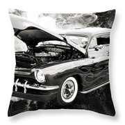 1951 Mercury Classic Car Photograph 001.01 Throw Pillow