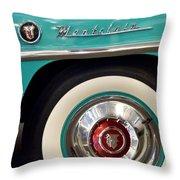 1951 Mercury Montclair Convertible Wheel Emblem Throw Pillow