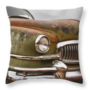 1951 Nash Ambassador Hydramatic Front End Throw Pillow