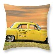1951 Plymouth Sedan 'yellow Cab' Throw Pillow