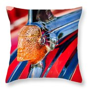 1951 Pontiac Chief Hood Ornament Throw Pillow