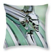 1951 Pontiac Streamliner Hood Ornament 3 Throw Pillow