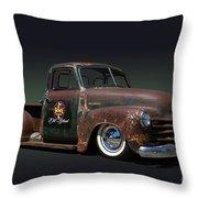 1951 Rusty Chevrolet Pickup Truck Throw Pillow