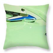 1951 Studebaker Commander Hood Ornament 3 Throw Pillow by Jill Reger