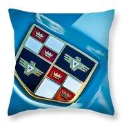 1951 Studebaker Hood Emblem Throw Pillow