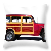 1951 Willy's Jeep Wagon Throw Pillow