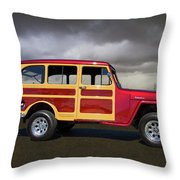 1951 Willy's Jeepster Throw Pillow