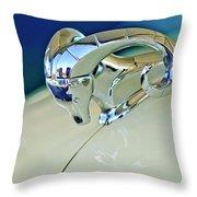 1952 Dodge Coronet  Diplomat Club Coupe Hood Ornament Throw Pillow