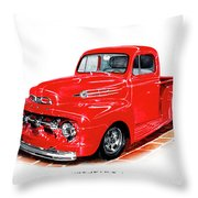 1952 Ford Pick Up Truck Throw Pillow