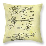 1952 Helicopter Patent Throw Pillow