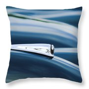 1952 Jaguar Hood Throw Pillow