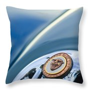 1952 Jaguar Hood Ornament Throw Pillow