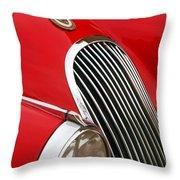 1952 Jaguar Xk 120 Grille Emblem Throw Pillow