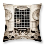 1952 Land Rover 80 Grille -1003s Throw Pillow