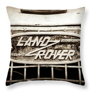 1952 Land Rover 80 Grille  Emblem -0988s2 Throw Pillow