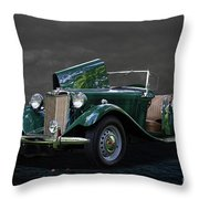1952 Mg Td Roadster Throw Pillow