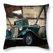 1952 Mg Td Roadster Sports Car Throw Pillow