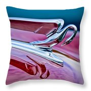 1952 Packard 400 Hood Ornament Throw Pillow