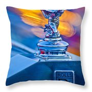 1952 Rolls-royce Silver Wraith Hood Ornament Throw Pillow