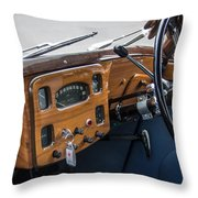 1952 Triumph Renown Limosine Instrument Panel Throw Pillow