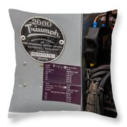 1952 Triumph Renown Limosine --- Vehicle Identification Tags Throw Pillow