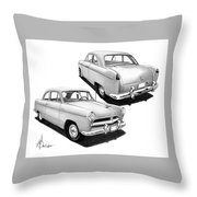 1952 Willys  Throw Pillow
