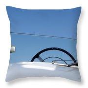 1953 Allard K3 Roadster Steering Wheel Throw Pillow