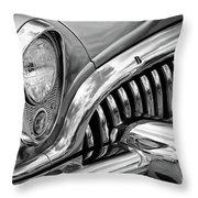 1953 Buick Chrome Bw Throw Pillow