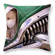 1953 Buick Chrome Throw Pillow