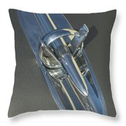 1953 Buick Hood Ornament Throw Pillow