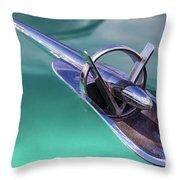 1953 Buick Super Hood Ornament Throw Pillow