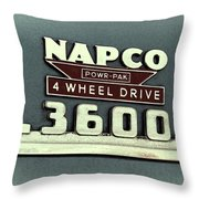 1953 Chevrolet 3600 4 X 4 Emblem Throw Pillow