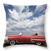 1953 Chevy Bel Air Convertible, Mixed Media, Louis Vuitton Steamer Trunk  Throw Pillow