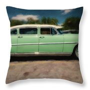 1953 Hudson Hornet Throw Pillow