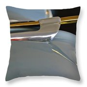 1953 Lincoln Capri Hood Ornament 2 Throw Pillow