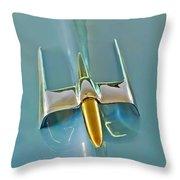 1953 Lincoln Capri Hood Ornament Throw Pillow