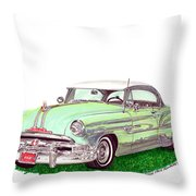1953 Pontiac Chieftain Catalina H.t. Throw Pillow