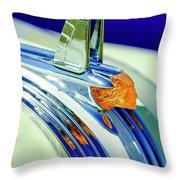 1953 Pontiac Hood Ornament 5 Throw Pillow