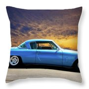 1953 Studebaker 'blue Streak' Commander Throw Pillow