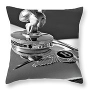 1954 Bentley One Of A Kind Hood Ornament 2 Throw Pillow by Jill Reger