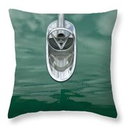 1954 Buick Hood Ornament 2 Throw Pillow