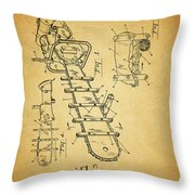 1954 Chainsaw Patent Throw Pillow