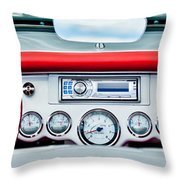 1954 Chevrolet Corvette Dashboard Throw Pillow