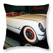1954 Chevrolet Corvette Convertible Throw Pillow