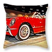 1954 Chevrolet Corvette Number 2 Throw Pillow