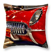 1954 Chevrolet Corvette Number 3 Throw Pillow